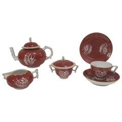 "Herend ""Esterházy"" 39-Piece Hand Painted Porcelain Tea Service, Hungary, Modern"