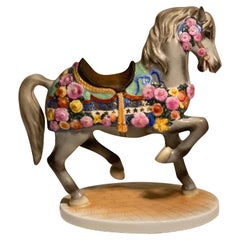 Herend Finest Quality Hand Painted Porcelain Carousel Horse Figurine