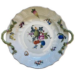 Herend Fruit and Flower Large Platter / Chop Plate