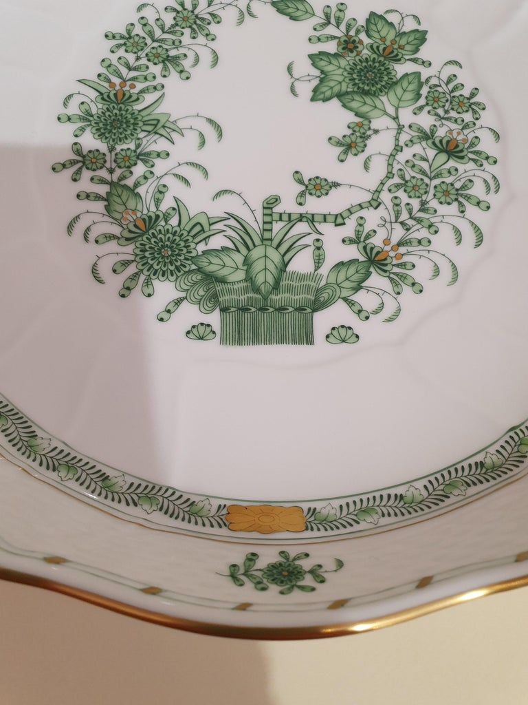 Rococo Herend Hand Painted Porcelain