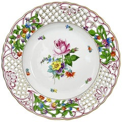 "Herend Hungary Porcelain ""Bouquet of Saxony"" Wall Decoration Plate"