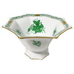 "Herend Hungary Porcelain ""Chinese Bouquet Apponyi Green"" Small Bowl"