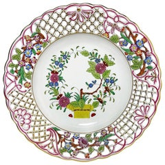 "Herend Hungary Porcelain ""Indian Basket"" Wall Decoration Plate"