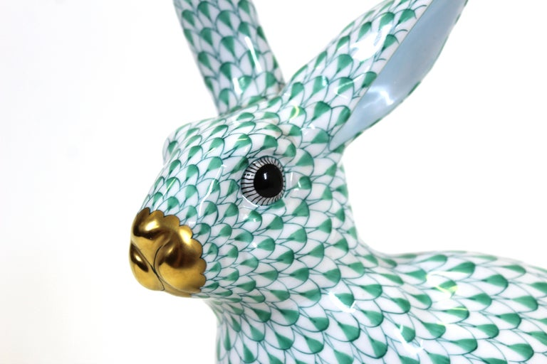 Herend Hungary Porcelain Rabbit Figure In Good Condition For Sale In New York, NY