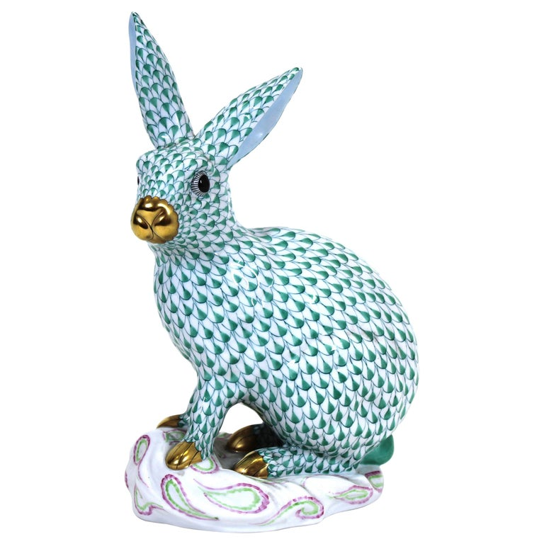 Herend Hungary Porcelain Rabbit Figure For Sale