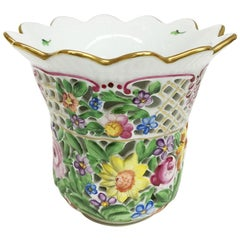 Herend Porcelain, Hungary Double Walled Vase