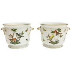 "Herend Porcelain ""Rothschild"" Cachepots"