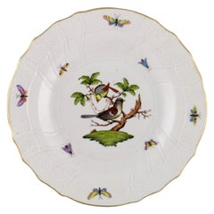Herend Rothschild Bird Dinner Plate in Hand-Painted Porcelain, Mid-20th Century