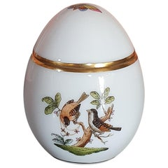 """Herend """"Rothschild"""" Hand Painted Porcelain Egg Box, Hungary, New, 2021"""