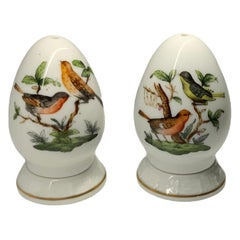 Herend Rothschild Hand Painted Porcelain Pair of Salt and Pepper Shakers