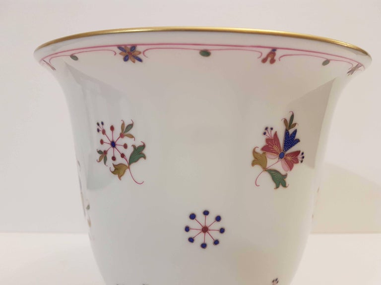 Herend Vase Hand Painted Hungarian Porcelain Modern For Sale At 1stdibs