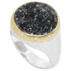 Heritage Balance Black Druzy Ring