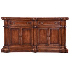 Heritage French Provincial Walnut Sideboard Credenza or Bar Cabinet