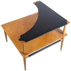 Heritage Henredon Side Table with Leather Top