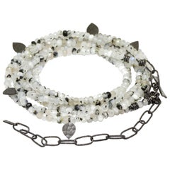 Heritage Moonstone Silver Gemstone Convertible Wrap/NOXS