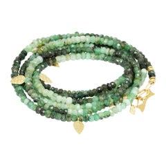 Heritage Shaded Emerald 14k Gold Necklette
