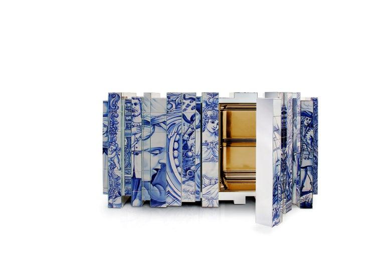 Modern Heritage Blue Sideboard  For Sale