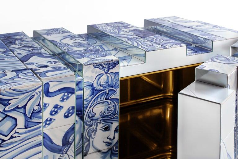 Portuguese Heritage Blue Sideboard  For Sale