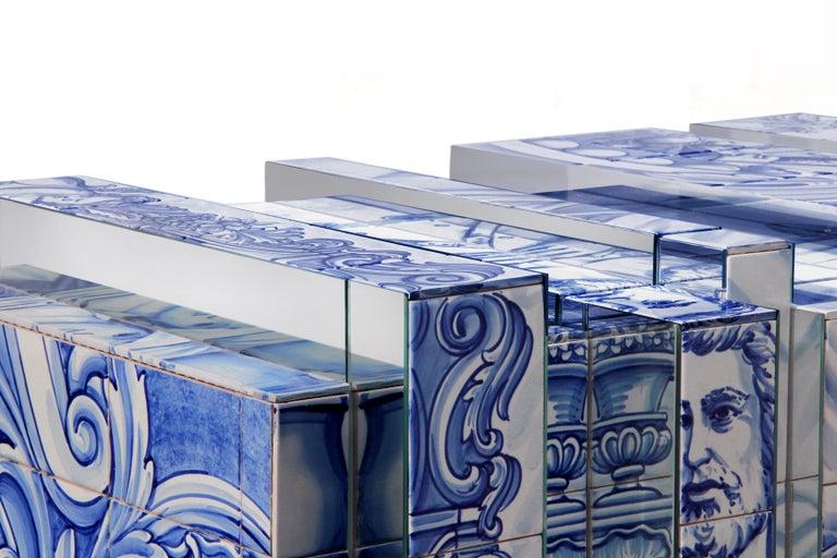 Glazed Heritage Blue Sideboard  For Sale