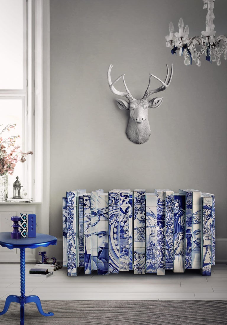 Heritage Blue Sideboard  In New Condition For Sale In New York, NY