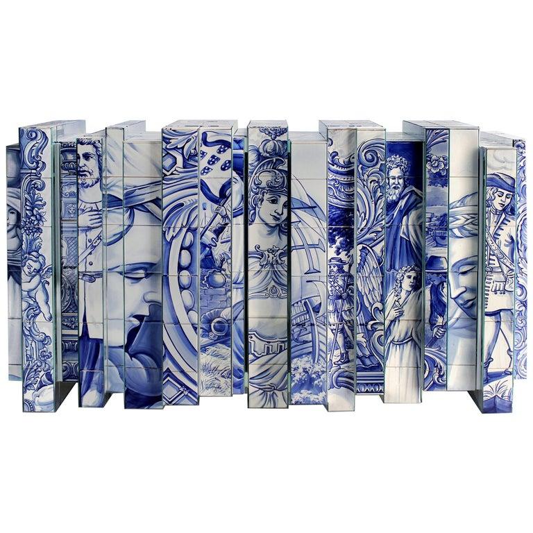 Heritage Blue Sideboard  For Sale