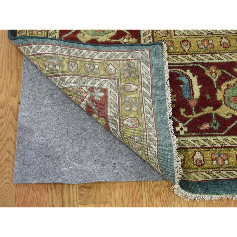 Hand-Knotted Heriz Design Hand Knotted 100 Percent Wool Oriental Oversize Rug For Sale