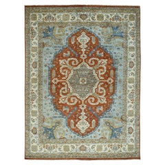 Heriz Hand Knotted Antiqued Oriental Rug