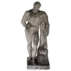 Herkules Farnese Model, Plaster, 1890-1910, Italy, Grand Tour