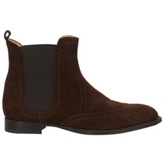 Hermès Woman Ankle boots Brown Leather IT 37.5