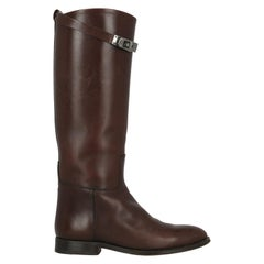 Hermès Woman Boots Brown Leather IT 37.5