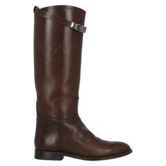 Hermès Woman Boots Brown Leather IT 37.5