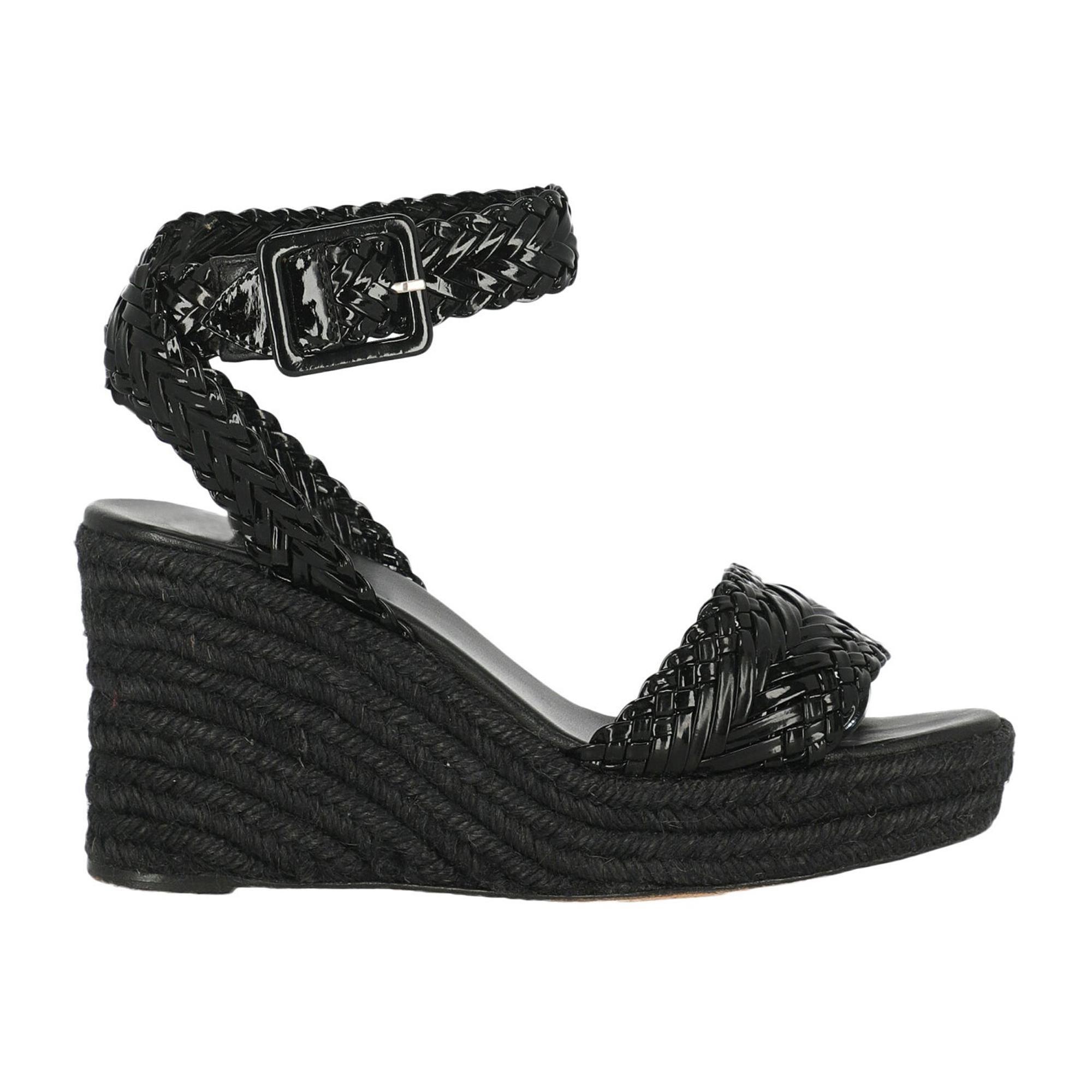 Hermès Woman Wedges Black Leather IT 38