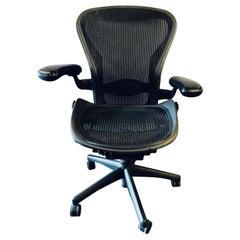 Herman Miller 'Aeron' Office / Desk Chair in Graphite Medium Size