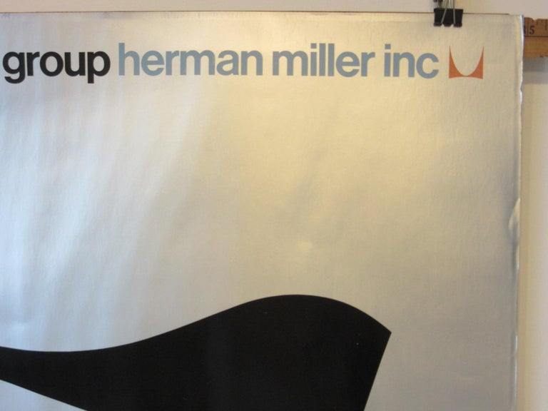 Herman Miller Dealer Soft Pad Group Advertising Poster  In Good Condition For Sale In Cincinnati, OH