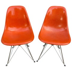 Herman Miller DKR Dining Chairs on Eiffel Base