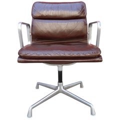 Exceptional Herman Miller Eames Brown Leather Soft Pad Management Office Chair