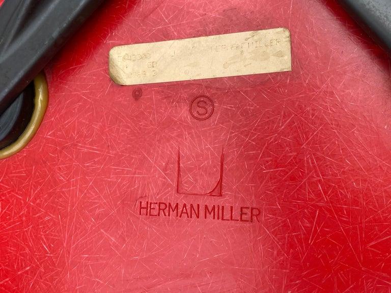 Herman Miller Eames Cherry Red RAR Rocker For Sale 1