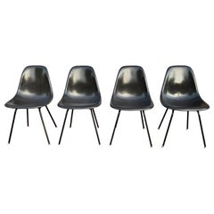 Herman Miller Eames Dining Chair Set in Black on Black