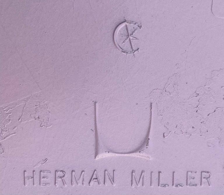 Fiberglass Herman Miller Eames Dining Chairs in Pink For Sale