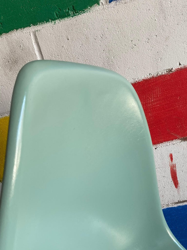 20th Century Herman Miller Eames Dining Chairs in Seafoam Green For Sale