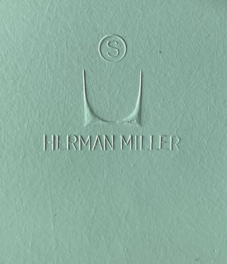 Herman Miller Eames Dining Chairs in Seafoam Green For Sale 1