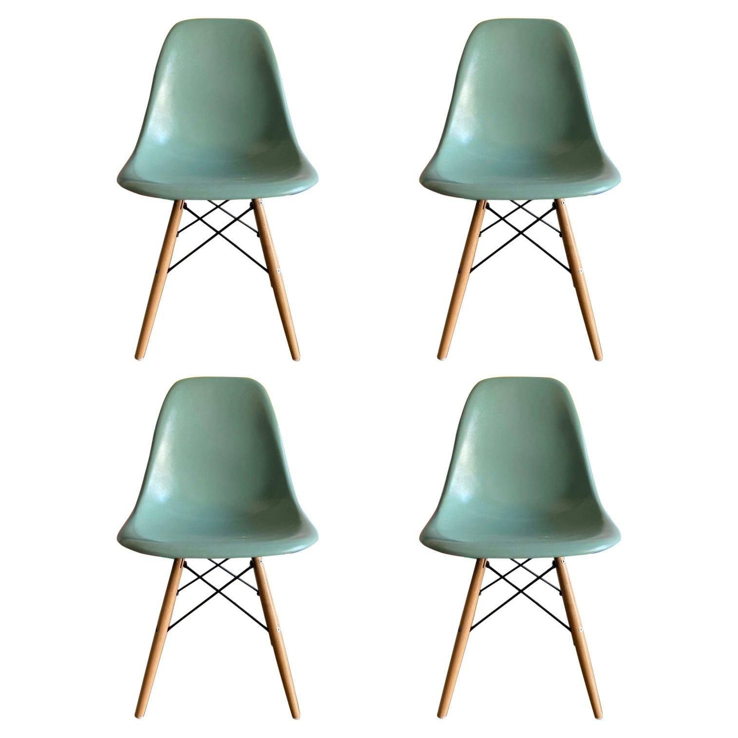 Herman Miller Eames Dining Chairs in Seafoam Green
