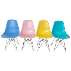 Herman Miller Eames Dining Chairs Set in Pastels