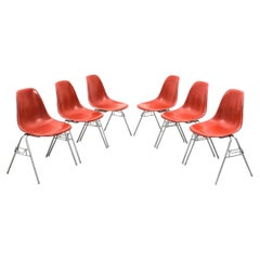 Herman Miller Eames Dining Chairs Terracotta, circa 1970