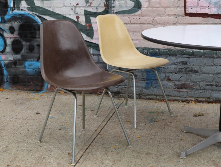 American Herman Miller Eames Dining Set with Table For Sale