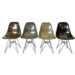 Herman Miller Eames DSR Dining Chairs in Earth Tones