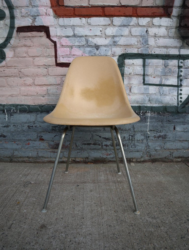 Herman Miller Eames Eames Multicolored Dining Chairs Set In Good Condition For Sale In Brooklyn, NY