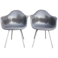Herman Miller Eames Elephant Grey Armchairs