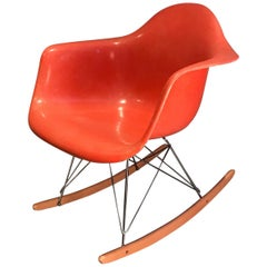 Herman Miller Eames Fiberglass Rocking Chair Model RAR