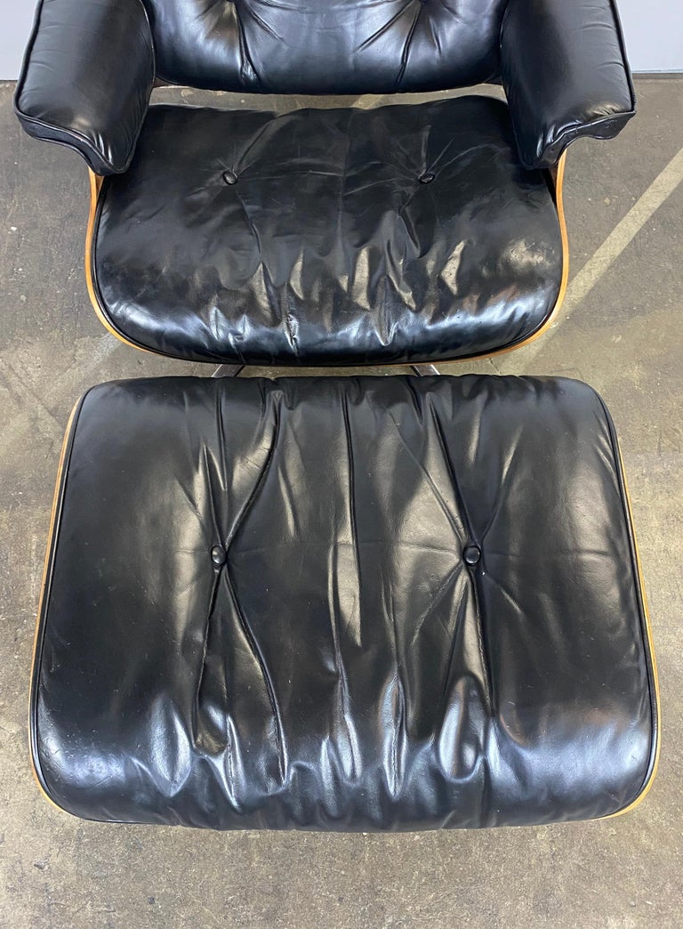 Herman Miller Eames Lounge Chair and Ottoman For Sale 6